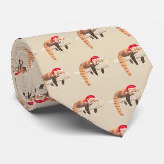 Red Panda Christmas tie for men