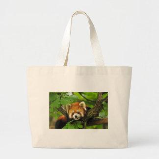 Red Panda Cub Large Tote Bag