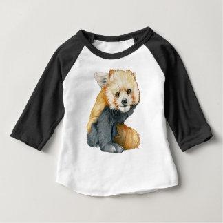 Red Panda Cub Raglan Baby T-Shirt