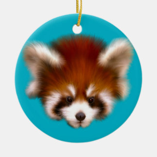 Red Panda Design Round Ceramic Decoration