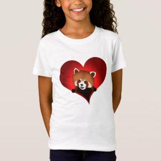 Red panda heart for kids T-Shirt