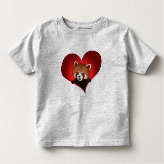 Red panda heart for kids toddler T-Shirt