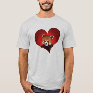 Red panda heart for the guys T-Shirt