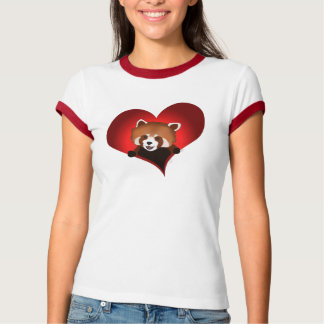 Red panda heart for the ladies T-Shirt