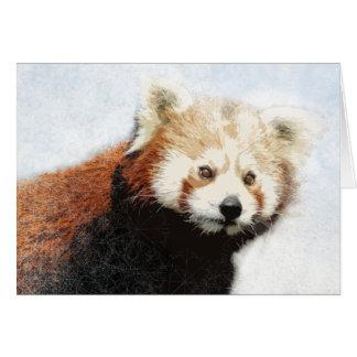 Red panda holiday card