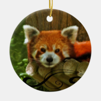 Red Panda Holiday Christmas Ornament
