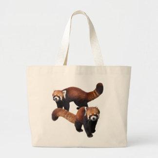 Red Panda Jumbo Tote Bag