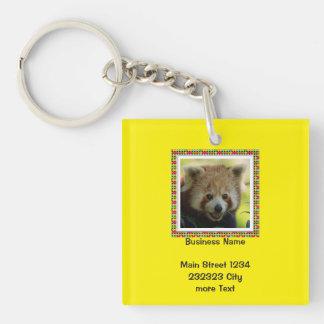 red panda Single-Sided square acrylic key ring