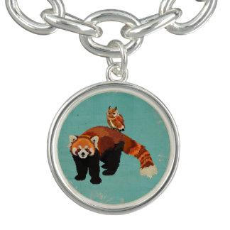 Red Panda & Little Owl Charm Bracelet