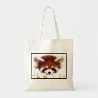 Red Panda Love Tote Bag