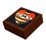 Red Panda Love heart Large Square Gift Box