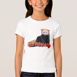 Red Panda Love shirts for kids