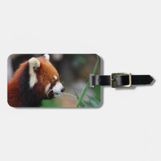 Red panda luggage tag