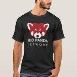 Red Panda Network Black T-Shirt