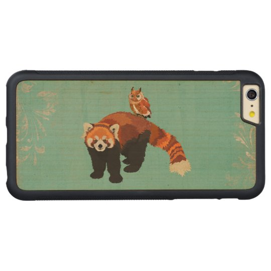 Red Panda & Owl Carved iPhone Case