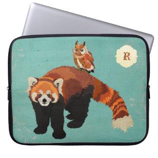 Red Panda & Owl Computer Sleeve