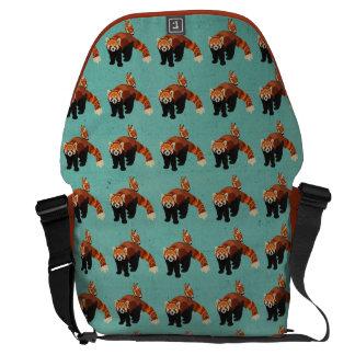 Red Panda & Owl  Messenger Bag