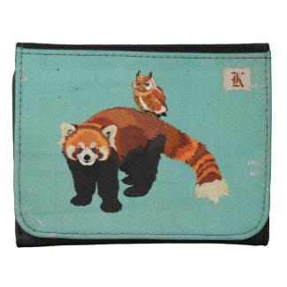Red Panda & Owl Monogram Wallet
