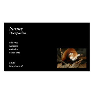 Red Panda Pack Of Standard Business Cards