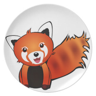 Red panda party plate