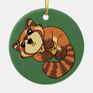 Red Panda! Round Ceramic Decoration