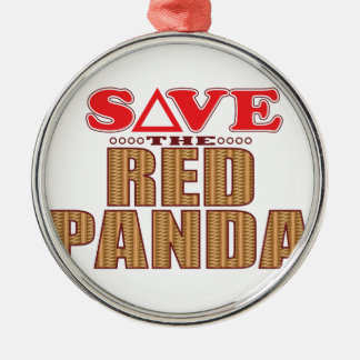 Red Panda Save Christmas Ornament