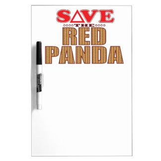 Red Panda Save Dry Erase Board