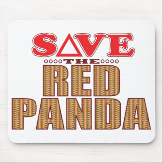 Red Panda Save Mouse Mat