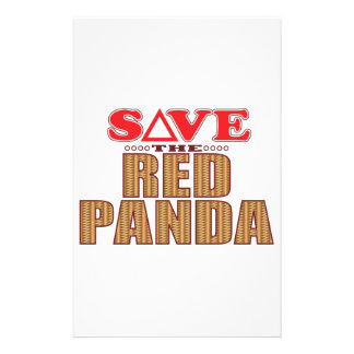 Red Panda Save Stationery Paper