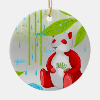 Red Panda Slinky Christmas Ornament