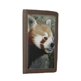 RED PANDA SMILE TRI-FOLD WALLETS