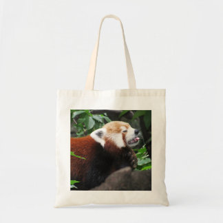 Red Panda stricking its tongue out Tote Bag