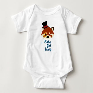 Red Panda Swag Baby Bodysuit