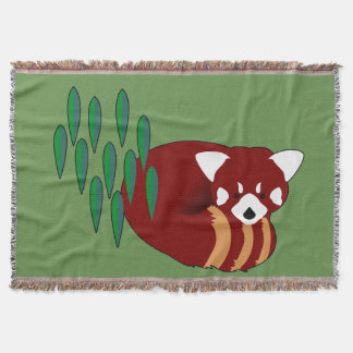 Red Panda Throw Blanket