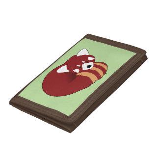 Red Panda Tri-fold Wallets