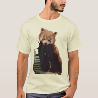 Red Panda with Leaves T-Shirt