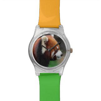 Red panda wristwatch