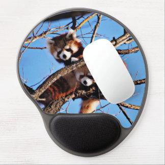 red pandas gel mouse pad