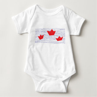 Red Paper Boats baby jumpsuit