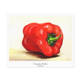 Red Paprika classic vegetable still life oil paint Gallery Wrap Canvas