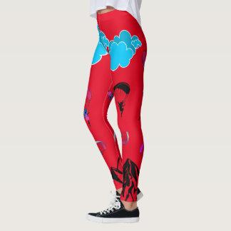 Red Paragliding Pixie Leggings