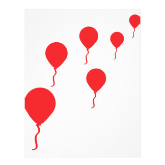 red party balloons icon 21.5 cm x 28 cm flyer