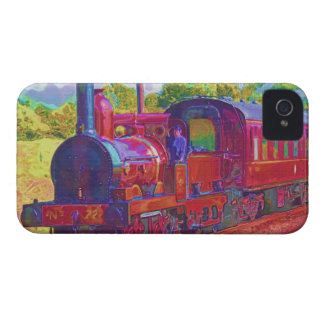 Red Passenger Steam Train Blackberry Bold Case iPhone 4 Cases