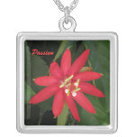 Red Passion Flower Necklace