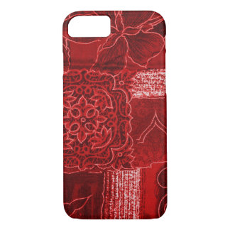 RED PATCHWORK iPhone 7 CASE