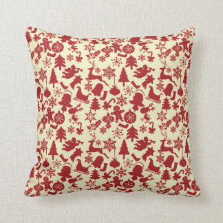 Red Pattern ~ All The Goodies of Christmas Spirit Cushion