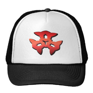red Pattern Hat