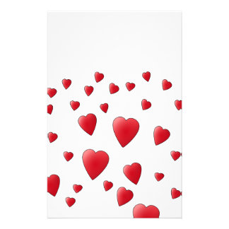 Red Pattern of Love Hearts. Personalized Flyer