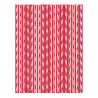 Red Pattern Postcard