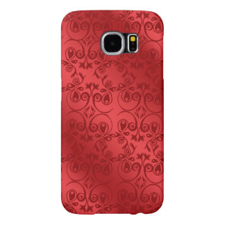 Red Pattern Samsung Galaxy S6 Cases